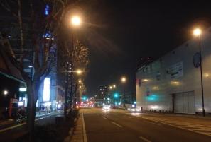 Road lights installation at Nagahama Harbor line